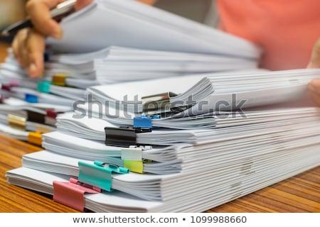 учитель студентов работу счастливым пер очки Сток-фото © photography33