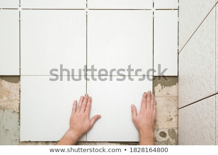 Tiler pointing Stock photo © photography33
