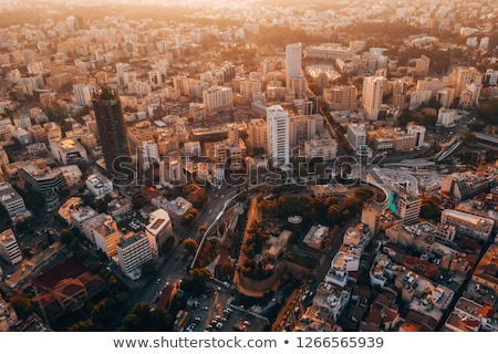 top view of old town of nicosia stock photo © kirill_m