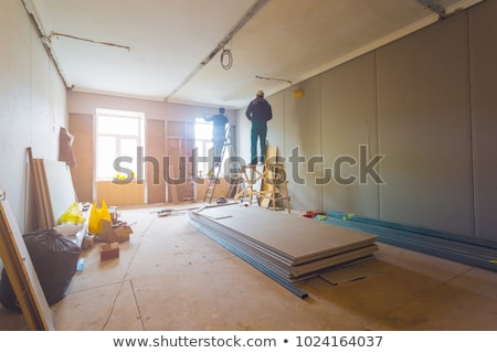 Home wederopbouw kamer witte lege Stockfoto © Sarkao