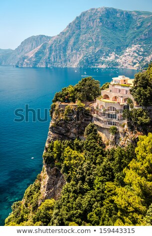 Stunning landscape of mountain range and Mediterranean sea. Ibiz Stock photo © amok