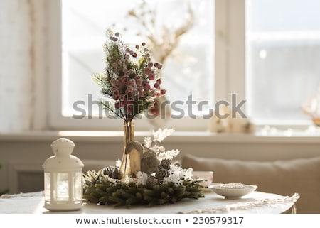 クリスマス インテリア 自然光 キャンドル 花輪 ストックフォト © HASLOO