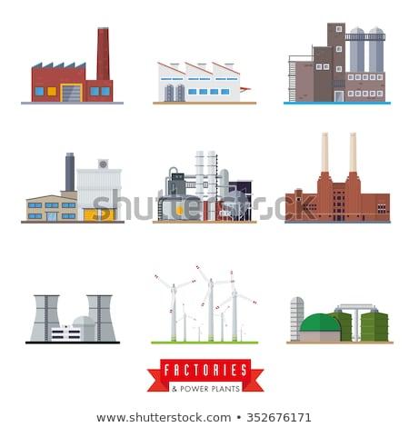 ядерной электростанция набор стилизованный власти несколько Сток-фото © tracer