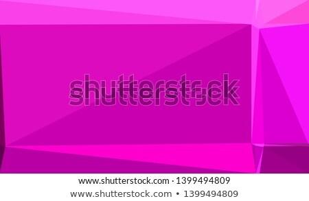 Mor kırmızı soyut düşük çokgen stil Stok fotoğraf © patrimonio