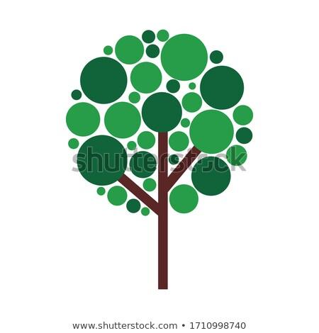 抽象的な フローラル ツリー シンボル 自然 森林 ストックフォト © Morphart