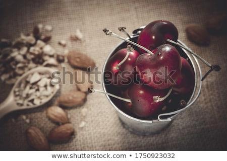 チェリー · 赤 · 桜 · スプーン - ストックフォト © Digifoodstock