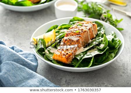 Сток-фото: лосося · растительное · кремом · рыбы · обеда