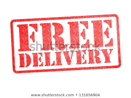 free delivery stamp on white background Stock photo © SArts