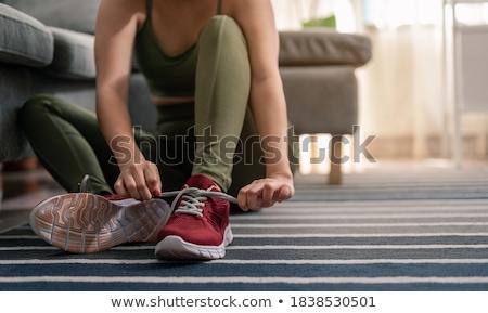 Determinado mulher esportes sapatos fitness Foto stock © wavebreak_media