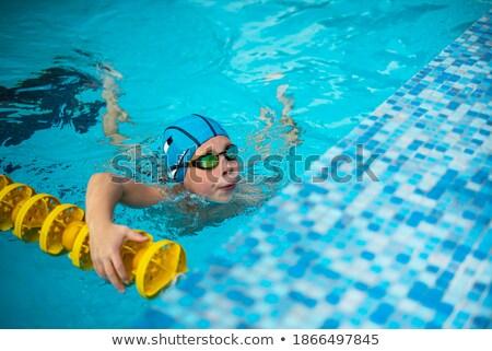 óculos de proteção piscina verão menino Foto stock © IS2