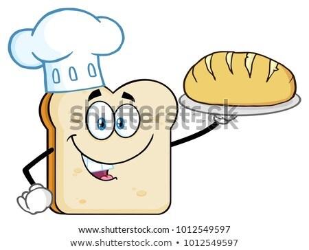 Chef cartoon mascotte karakter presenteren perfect Stockfoto © hittoon