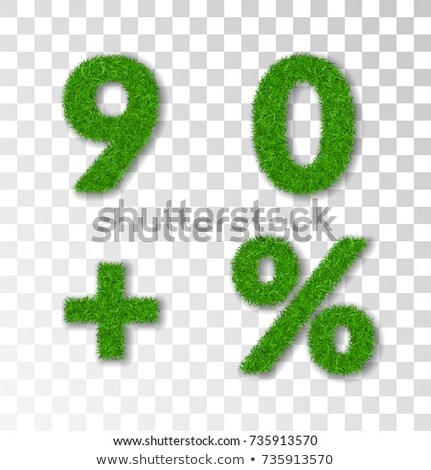 Green Percents Collection With Grass Transparent Background Stock photo © adamson