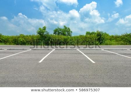 Otopark iki araba araba doğa mavi Stok fotoğraf © colematt