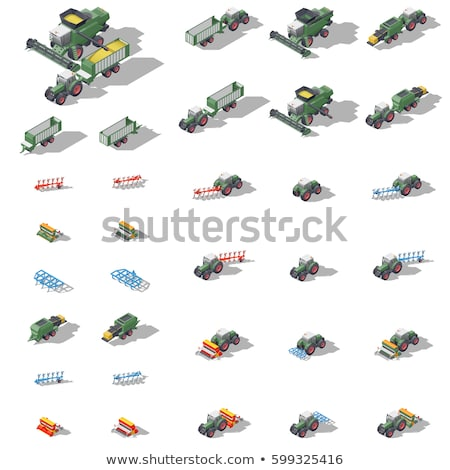 Agriculture Machinery Tractor, Grain Trailer Baler Stock photo © robuart