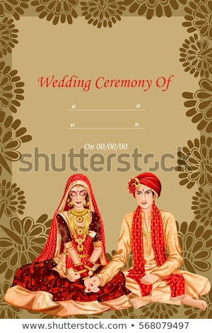 Viering bruiloft huwelijk ceremonie receptie vector Stockfoto © robuart