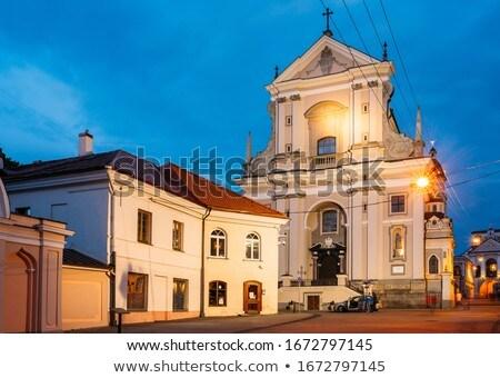 Kerk Vilnius een vroeg barok gebouwen Stockfoto © borisb17