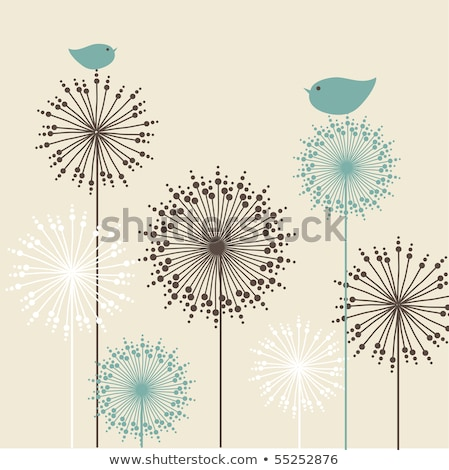 Two Abstract Flower Cards Stockfoto © mcherevan