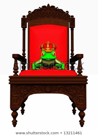Ilustración rana trono oro funny corona Foto stock © adrenalina