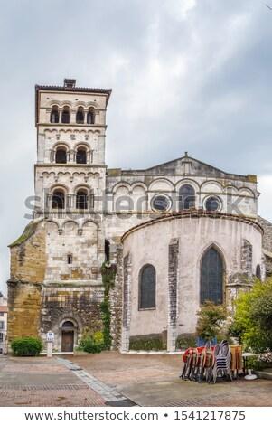 Abdij Frankrijk gebouw kerk wolk architectuur Stockfoto © borisb17