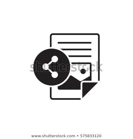 Vektor adás szimbólum ikon terv Stock fotó © nickylarson974