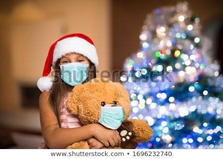 幸せな女の子 · 雪だるま · おもちゃ · 美しい · 着用 - ストックフォト © goce
