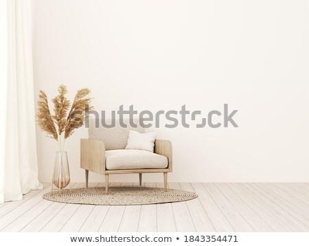 3D · rouge · cuir · fauteuil · blanche · maison - photo stock © fotovika