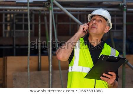 Architect holding his hard hat Stock photo © photography33