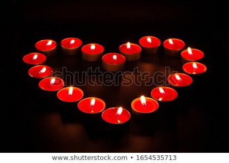 свечу · изолированный · белый · огня · Церкви · мира - Сток-фото © witthaya