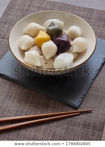 Hideg étel fiatal nő eszik süt bab Stock fotó © jayfish