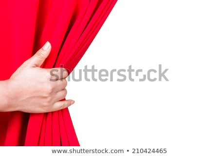 behind curtain Stock photo © carlodapino