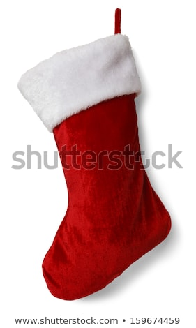 Christmas stocking  on  white background Stock photo © evgenyatamanenko