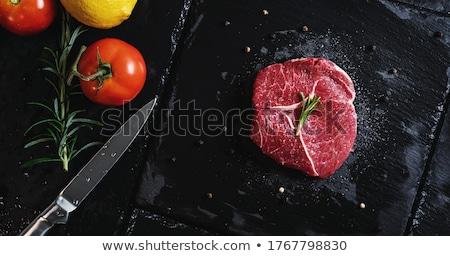 ビーフステーキ ローズマリー 白 プレート 食品 牛 ストックフォト © hanusst