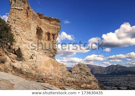 башни Корсика оригинальный побережье пустыне небе Сток-фото © Joningall