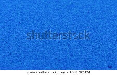Azul esponja textura banheiro cor Foto stock © michaklootwijk