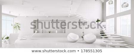 white interior with stairs stock photo © vizarch