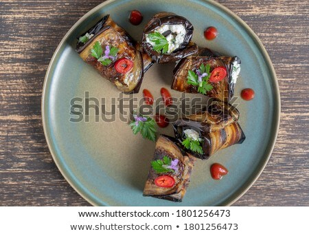 aubergine rolled up with cheese Stock photo © M-studio