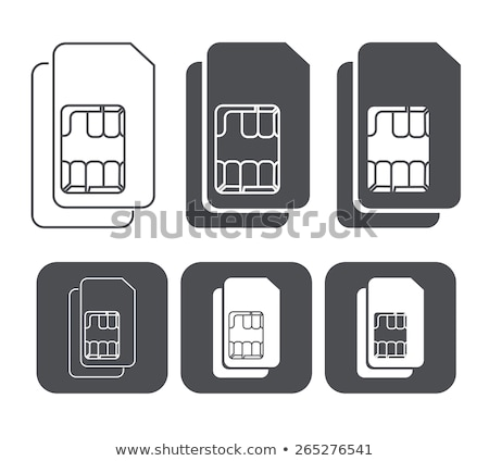 mikroprocesszor · chip · elektronikus · alkotóelemek · ikon · fehér - stock fotó © smoki