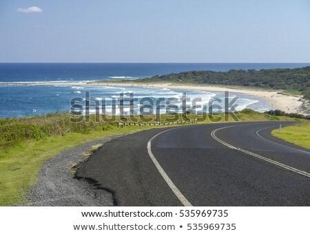winding road at the coast Stock photo © meinzahn