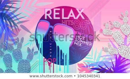 Violet vinyl kleurrijk foto gelukkig modieus Stockfoto © Fisher
