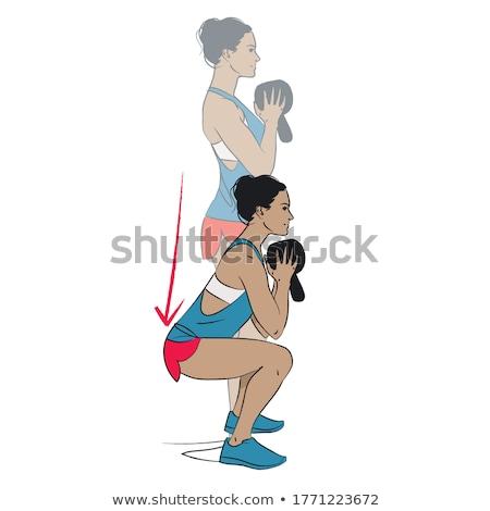 гири женщину тренировки спортзал осуществлять девушки Сток-фото © lunamarina
