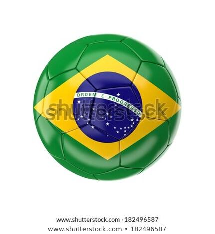 サッカーボール ブラジル フラグ 孤立した 白 サッカー ストックフォト © jelen80