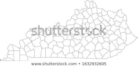 Kentucky mapa isolado branco EUA américa Foto stock © speedfighter