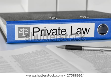 Blue folder with the label Private Law Stock photo © Zerbor