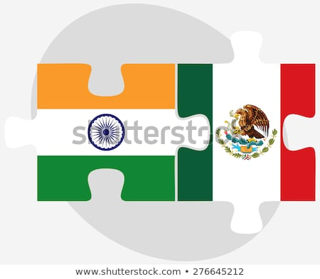 India and Mexico Flags in puzzle  Stock photo © Istanbul2009