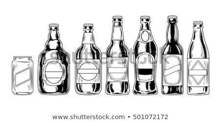 fles · drinken · hand · pop · art · retro · man - stockfoto © netkov1