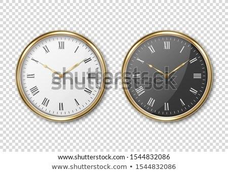 Alarm Clock golden Vector Icon Design Stock photo © rizwanali3d