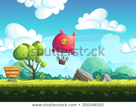 seamless cartoon game landscape stock photo © netkov1