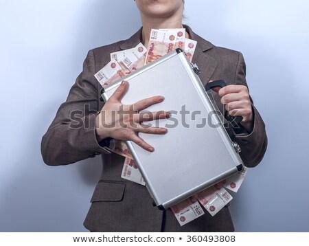 rico · pessoas · numerário · ilustração · dinheiro - foto stock © rastudio
