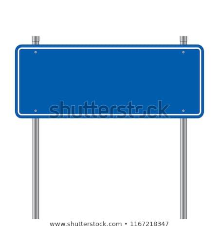 vazio · placa · sinalizadora · campo · amarelo · trigo · campo · de · grama - foto stock © michaklootwijk