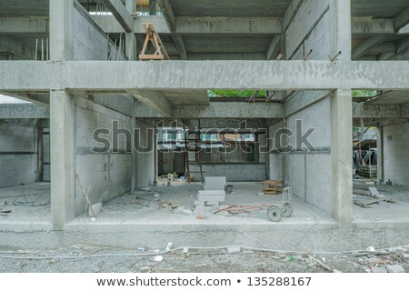 Stock fotó: Fal · építkezés · vidék · fából · készült · ház · részletek
